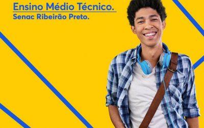 Em 2021 os alunos que concluíram o Ensino Fundamental poderão cursar o Ensino Médio Técnico no Senac Ribeirão Preto com descontos especiais!